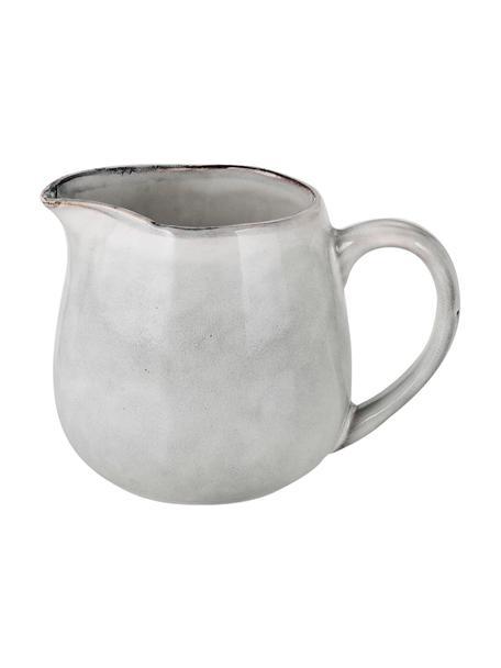 Ręcznie wykonany dzbanek do mleka z kamionki Nordic Sand, 300 ml, Kamionka, Piaskowy, Ø 12 x W 9 cm
