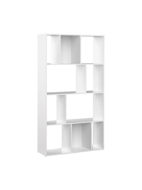 Weisses Standregal Toronto, Spannplatte, melaminbeschichtet, Weiss, 98 x 181 cm