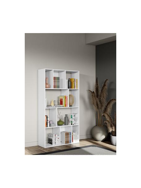 Libreria bianca Toronto, Truciolare nobilitato, Bianco, Larg. 98 x Alt. 181 cm