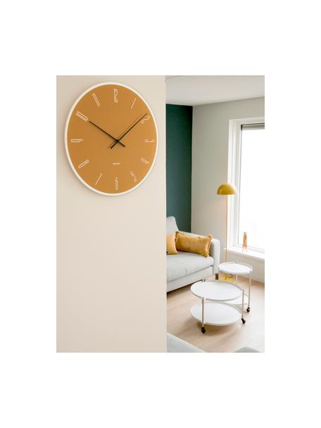 Wandklok Mirror Numbers, Glas, Geel, zilverkleurig, zwart, Ø 40 cm