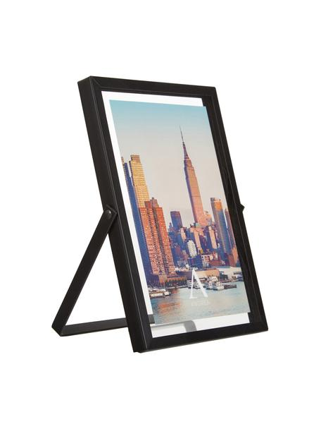 Bilderrahmen Marco, Rahmen: Metall, Front: Glas, Schwarz, 13 x 18 cm