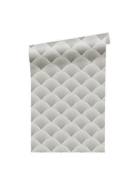Papel pintado Luxus 3D Geometric Art, Tejido no tejido, Plateado, gris, An 52 x Al 1005 cm