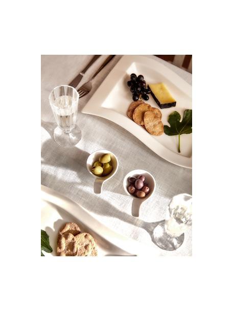 Sektflöten Ana mit geriffelter Oberfläche, 12 Stück, Glas, Transparent, Ø 6 x H 17 cm
