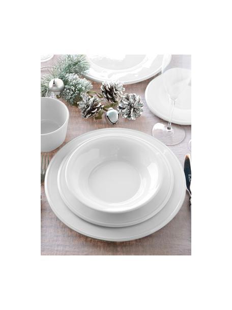 Saladeschaal Constance van keramiek, Ø 30 cm, Keramiek, Wit, Ø 30 x H 9 cm