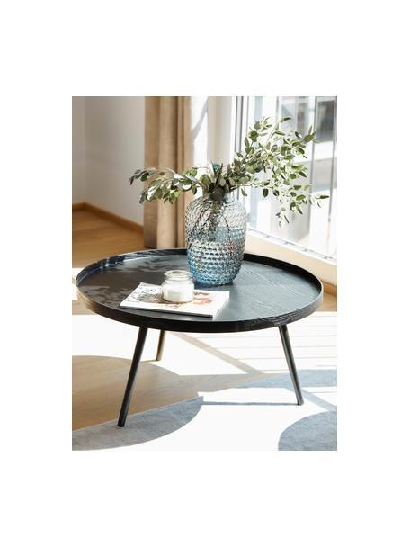 Tavolino da salotto rotondo in legno Mesa, Legno di pino, pannello di fibra a media densità (MDF), Nero, Ø 78 cm