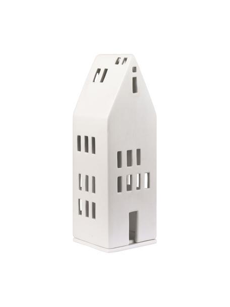 Teelichthalter Building, Porzellan, Weiß, 8 x 22 cm