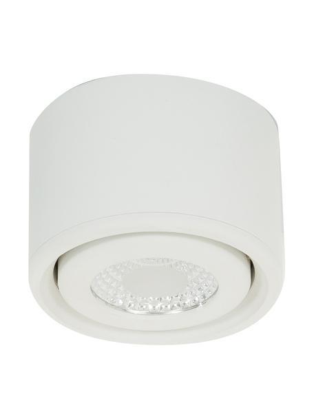 Faretto da soffitto bianco Anzio, Cornice: alluminio rivestito, Bianco, Ø 8 x Alt. 5 cm