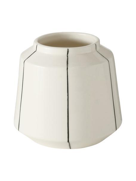 Kleine Vase Govia, Dolomit, Weiß, Ø 13 x H 12 cm