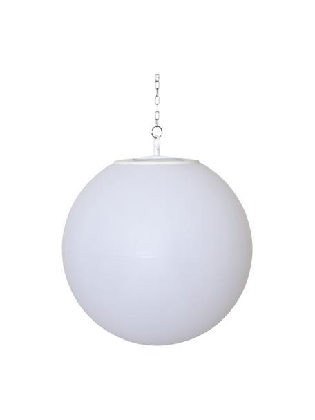Lámpara colgante solar Globy, Pantalla: plástico, Blanco, Ø 30 x Al 29 cm