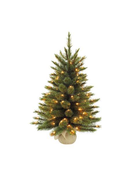 Árbol de Navidad artificial LED Forest, Agujas: plástico (PVC), Verde, Ø 46 x Al 60 cm