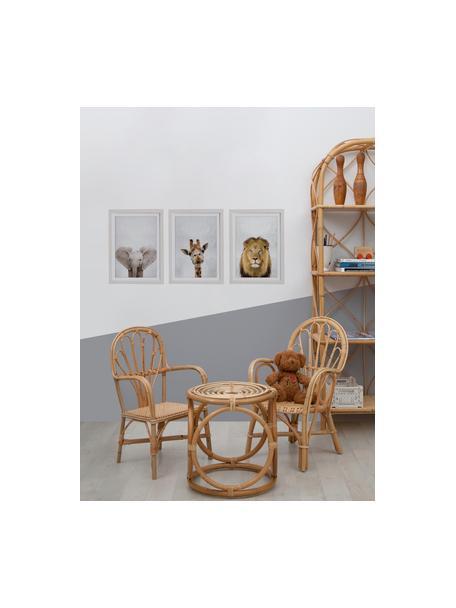 Set de impresiones digitales enmarcadas Wild Animals, 3pzas., Fotografía: impresión digital sobre p, Multicolor, An 35 x Al 45 cm