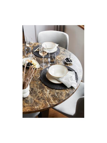 Tovaglietta americana rotonda Thrill 4 pz, Juta dipinta, Nero, Ø 35 cm