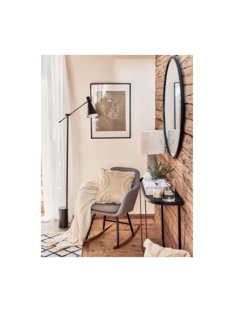 Fotel bujany  Emilia, Tapicerka: 90% poliester, 8% wiskoza, Nogi: metal malowany proszkowo, Jasny szary, S 57 x G 69 cm