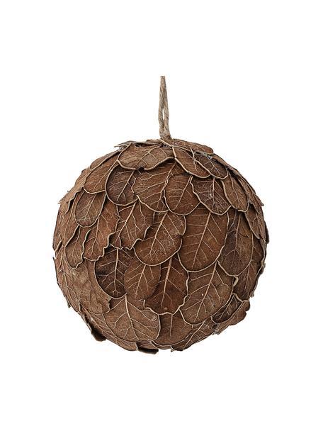Kerstbal Zada, Hout, eiken bladeren, Bruin, Ø 11 cm