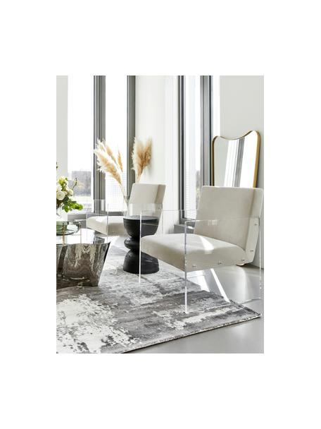 Samt-Loungesessel Ayden, Bezug: Samt (Polyester) Der hoch, Gestell: Massives Pappelholz, Sper, Beine: Acrylglas, Samt Beige, B 64 x T 74 cm