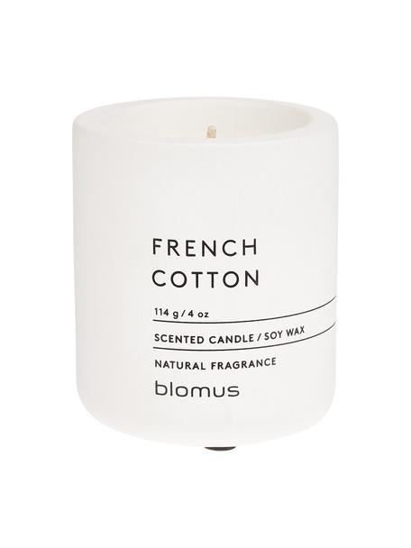 Vela perfumada Fraga (hierbas dulces), Recipiente: hormigón, Blanco, Ø 7 x Al 8 cm