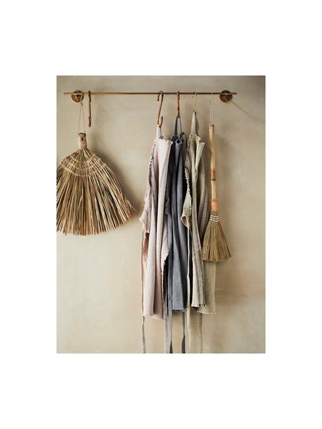 Fartuch z bawełny Ripo, 100% bawełna, Beżowy, czarny, S 65 x D 85 cm