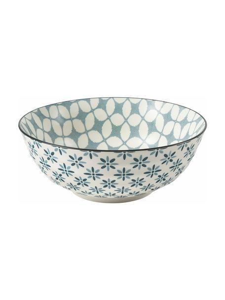 Saladeschaal Double, Ø 23, Keramiek, Blauwtinten, wit, Ø 23 x H 9 cm