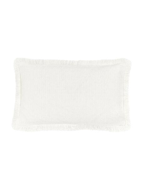 Federa arredo color bianco crema Lorel, 100% cotone, Bianco, Larg. 30 x Lung. 50 cm