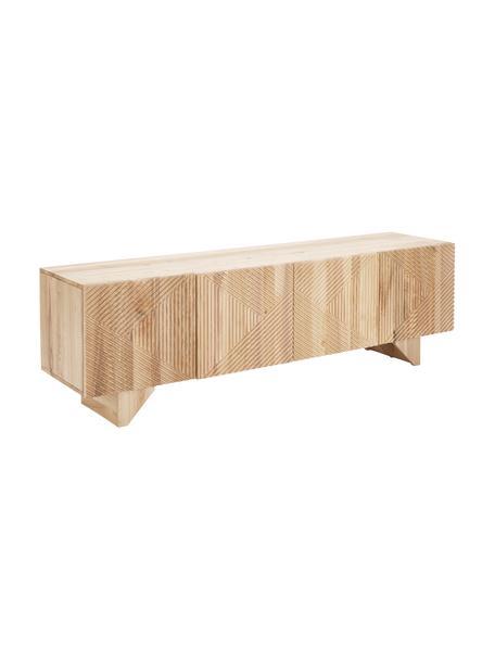 Szafka niska z litego drewna jesionowego Louis, Drewno jesionowe, S 180 x W 55 cm