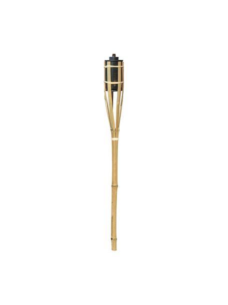 Fakkels Barny, 3 stuks, Frame: bamboe, Houder: gelakt metaal, Beige, Ø 6 x H 63 cm
