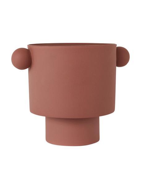Duża ręcznie wykonana osłonka na doniczkę z ceramiki Ika, Ceramika, Terakota, Ø 30 x W 23 cm