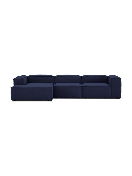 Sofá rinconero modular Lennon, Tapizado: 100%poliéster Alta resis, Estructura: madera de pino maciza, ma, Patas: plástico Las patas están , Tejido azul, An 327 x F 180 cm
