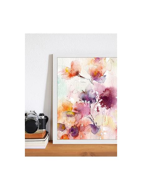 Impresión digital enmarcada Abstract Flowers, Multicolor, An 33 x Al 43 cm