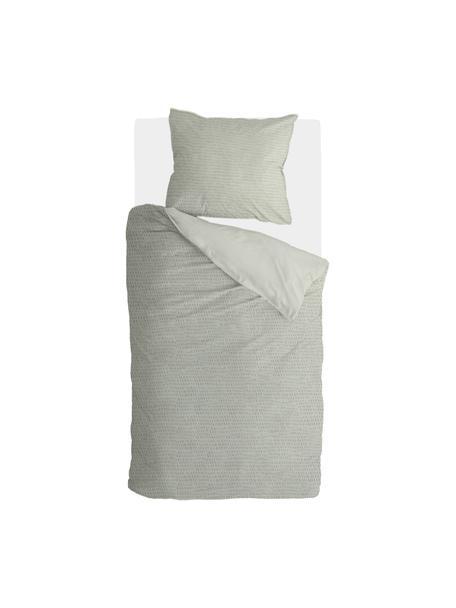 Seersucker-Bettwäsche Basic & Tough, Webart: , Vorderseite: Seersucker, Rückseite: Renforcé Fadendichte 144 , Hellgrün, 135 x 200 cm + 1 Kissen 80 x 80 cm