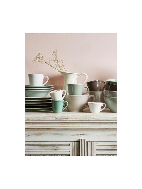 Tazas de café Constance, 2uds., estilo rústico, Gres, Blanco, Ø 9 x Al 10 cm