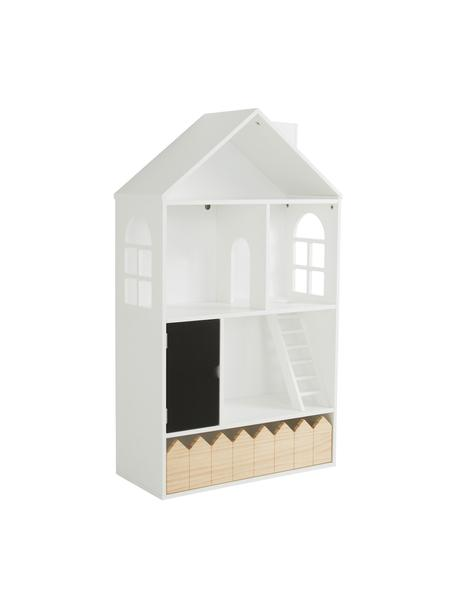 Casa delle bambole Mi Casa Su Casa, Legno di pino, pannello di fibra a media densità (MDF), Bianco, nero, Larg. 61 x Alt. 106 cm