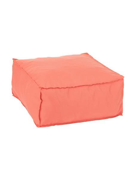 Pouf Square, Bezug: 100% Polyester, Korallfarben, 60 x 28 cm