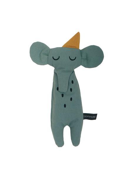 Kuscheltier Elephant aus Bio-Baumwolle, Graugrün, 8 x 30 cm