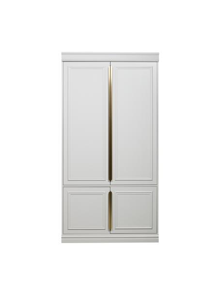 Armario Organize, Estructura: madera de pino pintada, Gris, blanco, An 110 x Al 215 cm