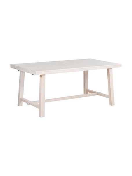 Tavolo allungabile in legno massello Brooklyn, 170 - 22 x95 cm, Legno di quercia, massello, bianco slavato e oliato, Legno di quercia, bianco latteo, Larg. 170  a 220 x Prof. 95 cm