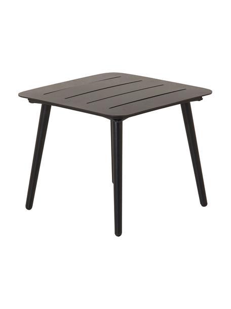 Ogrodowy stolik pomocniczy z metalu Lina, Metal lakierowany, Czarny, S 40 x G 40 cm