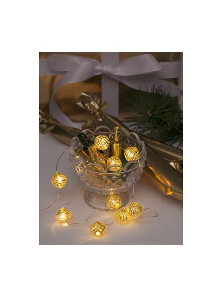 LED-Lichterkette Beads, 120 cm, 10 Lampions, Goldfarben, L 120 cm