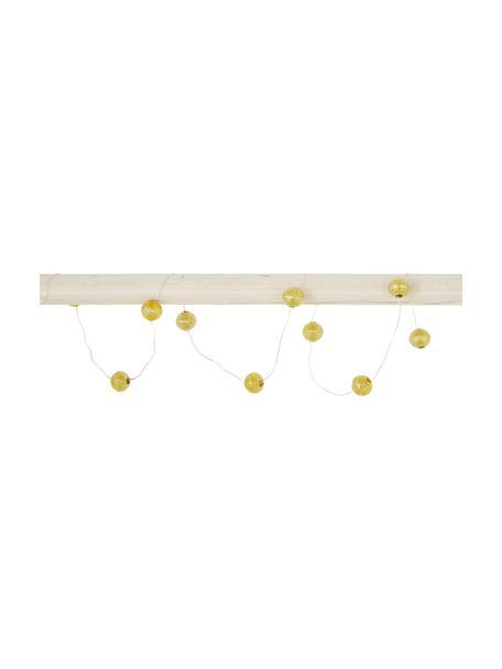 Ghirlanda a LED Beads, 120 cm, 10 lampioni, Paralume: acrilico, Dorato, Lung. 120 cm