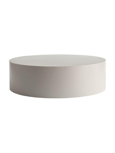 Ronde metalen salontafel Metdrum in lichtgrijs, Metaal, Lichtgrijs, Ø 85 x H 25 cm