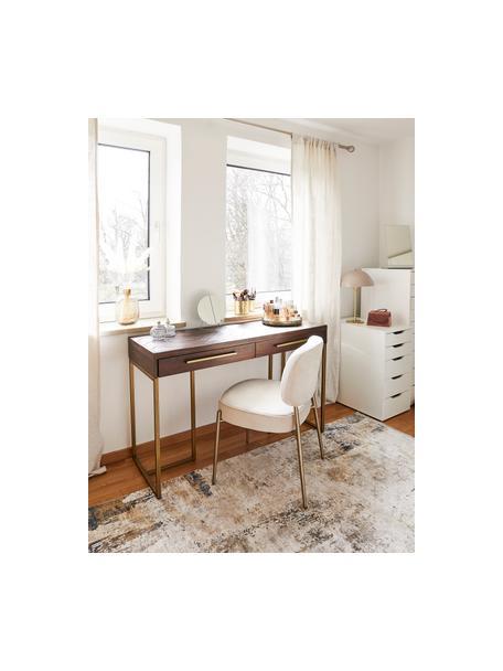 Teppich Verona mit abstraktem Muster, Flor: 50% Viskose, 50% Acryl, Creme, Beige, Grau, Braun, Dunkelblau, B 80 x L 150 cm (Größe XS)