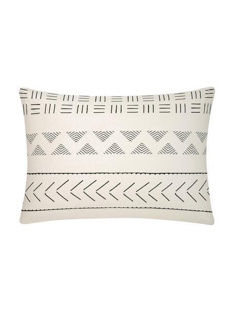 Funda de almohada de algodón Kohana, estilo boho, 50x70cm, Crudo, negro, An 50 x L 70 cm