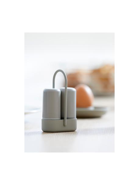 Zout- en peperstrooier Henk, 2-delig, Kunststof (ABS), metaal, Grijsbeige, B 7 x D 3 cm