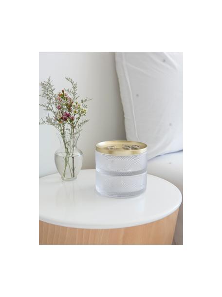 Sieradendoos Tesora, Glas, Goudkleurig, transparant, Ø 13 x H 11 cm