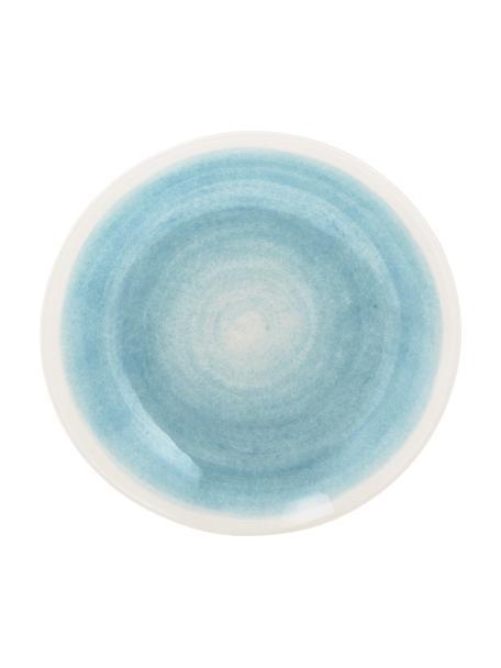Ręcznie wykonany talerz głęboki Pure, 6 szt., Ceramika, Niebieski, biały, Ø 23 cm