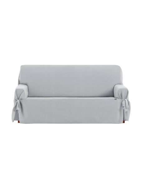 Funda de sofá Levante, 65%algodón, 35%poliéster, Gris, 2 plazas (160 x 110 cm)