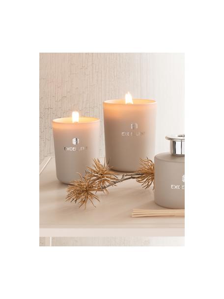 Vela perfumada Excellent (azucena), Recipiente: vidrio, Beige, Ø 9 x Al 12 cm