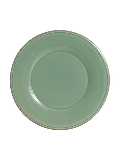 Platos llanos Constance, 2uds., estilo rústico, Cerámica, Verde salvia, Ø 29 cm