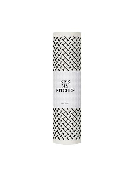 Kompostowalny ręcznik kuchenny Palipur, 70% celuloza, 30% bawełna, Biały, czarny, S 24 x D 25 cm
