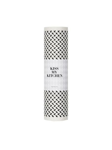 Sponsdoek rol Palipur, 70% Cellulose, 30% katoen, Wit, zwart, 24 x 25 cm