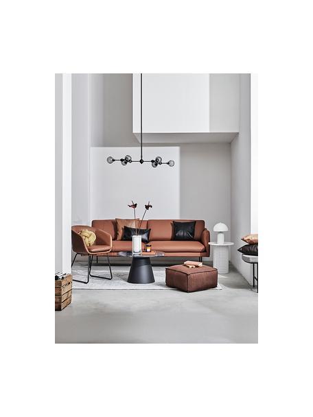 Lámpara de techo grandeAurelia, Estructura: metal con pintura en polv, Anclaje: metal con pintura en polv, Negro, gris, An 110 x Al 68  cm